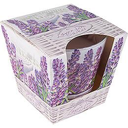 JEKA Scented Candle  -  Lavender Basket  -  Floral Lavender  -  8,1cm / 3.2 inch