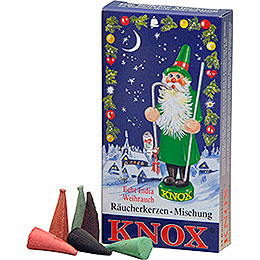 KNOX Incense Cones, Christmas Mix (Incense, Fir Tree, Sandel), 24 pcs.