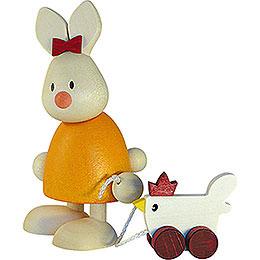 Kaninchen Emma mit Huhn  -  9cm