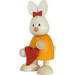 Kaninchen Emma stehend mit Herz  -  9cm
