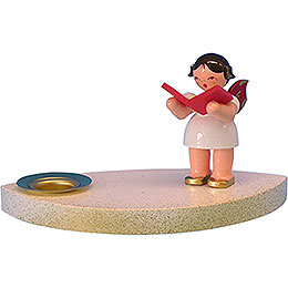 Kerzenhalter Engel mit Buch  -  7cm