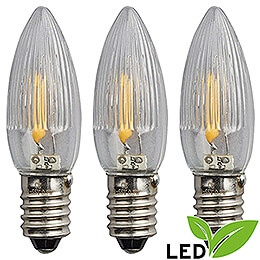 LED - Riffelkerze Filament  -  Sockel E10  -  23V