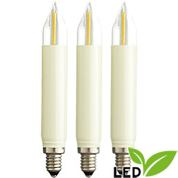 LED Small Shaft Bulb Filament  -  E10 Socket  -  16V