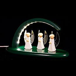 Leuchterbogen mit LED  -  Engel  -  grün  -  24x13cm