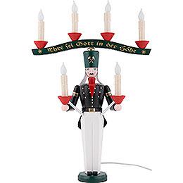 Lichterbergmann mit Joch, farbig, elektrisch beleuchtet  -  46cm