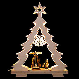 Lichterspitze Tanne Adventsidylle, LED  -  32x43x7,5cm