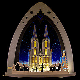 "Light Triangle  -  LED ""Cologne Cathedral""  -  52x53,5x9cm / 20x21x3.5 inch"