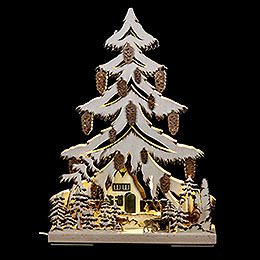 Light Triangle  -  Manger with Deer  -  32x44cm / 12.6x17.3 inch