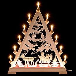 Light Triangle  -  St. Nick with Sleigh  -  66cm / 26 inch