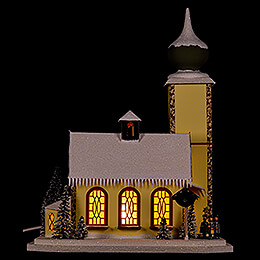 Lighted House Alpine Church  -  37cm / 14.6 inch