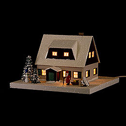 Lighted House Ore Mountains Home with Lobby  -  11,5cm / 4.5 inch