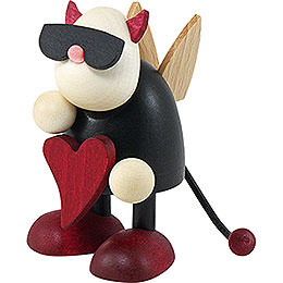 Little Devil Gustav Standing with Heart  -  7cm / 2.8 inch