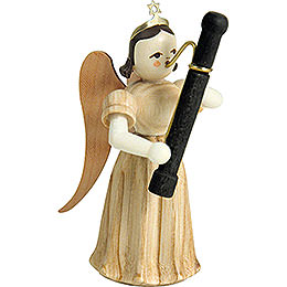 Long Pleated Skirt Angel with Fagott, Natural  -  6,6cm / 2.6 inch