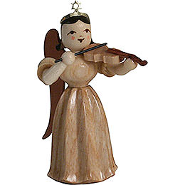 Long Pleated Skirt Angel with Violin, Natural  -  6,6cm / 2.6 inch