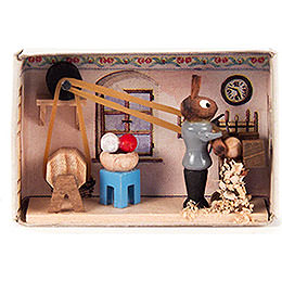 Matchbox  -  Bunny Turnery  -  4cm / 1.6 inch