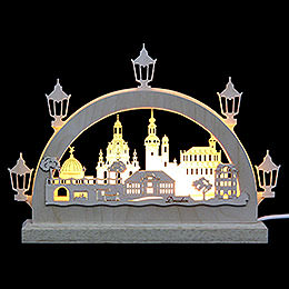 Mini LED Lightarch  -  Dresden  -  23x15x4,5cm / 9x6x2 inch