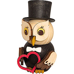 Mini Owl Bridegroom  -  7cm / 2.8 inch