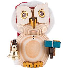 Mini Owl Santa  -  7cm / 2.8 inch