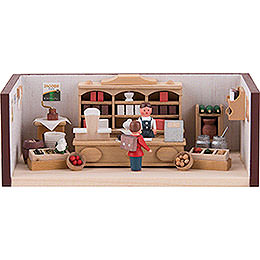 Miniature Room  -  Small Corner Shop  -  4cm / 1.6 inch
