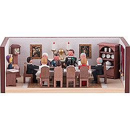 Miniaturstübchen Geburtstagsstube  -  4cm