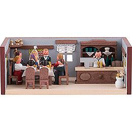 Miniaturstübchen Hochzeitsstube  -  4cm
