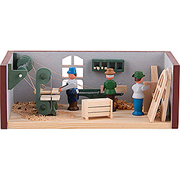 Miniaturstübchen Tischlerei  -  4cm