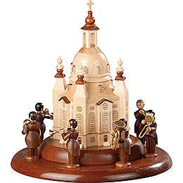 Motivplattform für elektr. Spieldose  -  Blechbläserensemble an der Frauenkirche  -  15cm