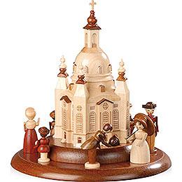Motivplattform für elektr. Spieldose  -  Historische Figuren an der Frauenkirche  -  15cm