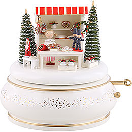 "Music Box ""Christmas Market""  -  15cm / 5.9 inch"