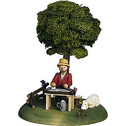 Musician Zither Player  -  15cm / 5.9 inch