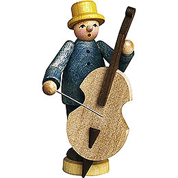 Musician with Bass Fiddle  -  7cm / 2.8 inch