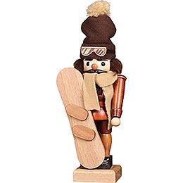 Nussknacker Snowboarder natur  -  30cm