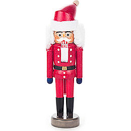 Nussknacker Weihnachtsmann rot  -  14cm