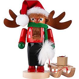 Nutcracker  -  Chubby Rudolph with Sleigh  -  27cm / 10.6 inch