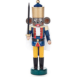 Nutcracker  -  Mouse King Blue - Yellow  -  14cm / 5.5 inch