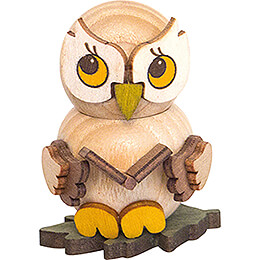 Owl Child with Book  -  4cm / 1.6 inch