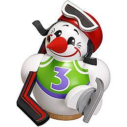 Räuchermännchen Cool - Man Eishockeyspieler  -  Kugelräucherfigur  -  12cm