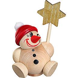 Räuchermännchen Cool Man vario mit roter Mütze  -  Kugelräucherfigur  -  11cm