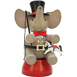 Räuchermännchen Elefant Zirkusdirektor  -  22,0cm