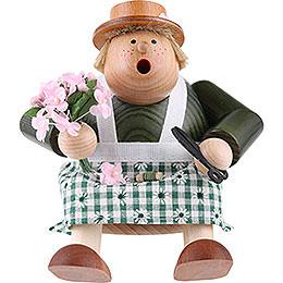 Räuchermännchen Floristin  -  Kantenhocker  -  16cm