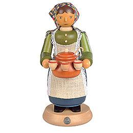 Räuchermännchen Glühweinverkäuferin  -  25cm