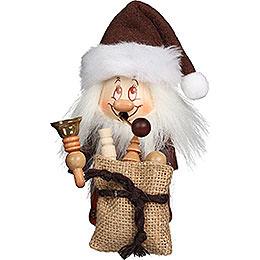 Räuchermännchen Miniwichtel Weihnachtsmann mit Glocke  -  15,5cm