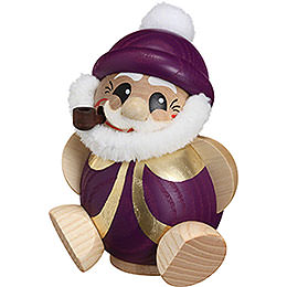 Räuchermännchen Nikolaus purpur - gold  -  Kugelräucherfigur  -  11cm