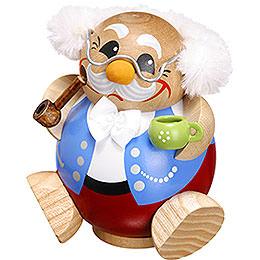 Räuchermännchen Pensionär  -  Kugelräucherfigur  -  10cm