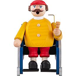 Räuchermännchen Rollstuhlfahrer  -  14cm