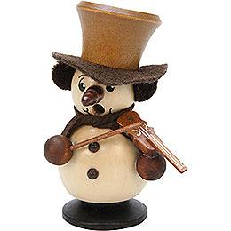 Räuchermännchen Schneebub mit Geige natur  -  10,5cm