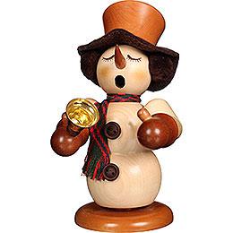 Räuchermännchen Schneemann mit Glocke natur  -  23cm