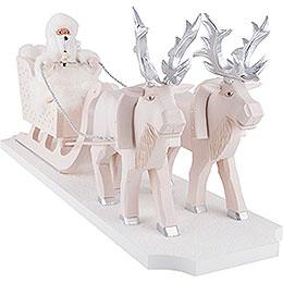 Räuchermännchen Väterchen Frost mit Rentierschlitten  -  26cm