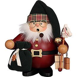 Räuchermännchen Weihnachtsmann dunkelrot  -  16,5cm