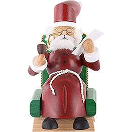 Räuchermännchen Weihnachtsmann im Sessel  -  13cm